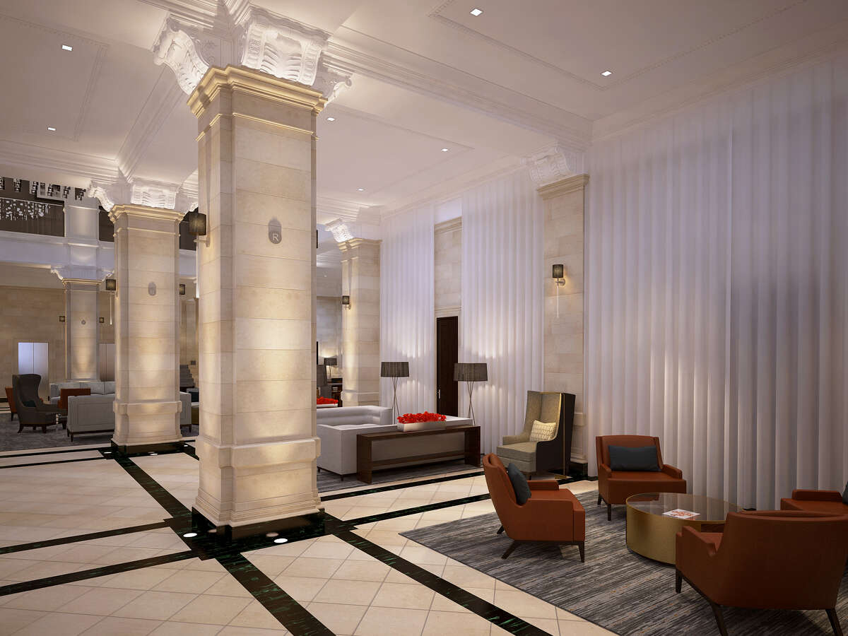 A rendering of the lobby in The Rice, which is undergoing a major renovation.