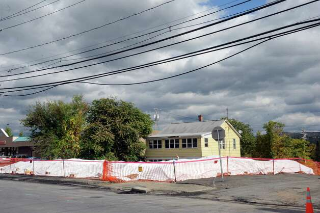 Site of a demolished home at 109 Saratoga St., just south of Ontario Street Friday, Oct. 10, 2014, where fire crews from several companies fought a blaze at 9:30 p.m. Wednesday night in a busy section of downtown in Cohoes, N.Y.  (Michael P. Farrell/Times Union) Photo: Michael P. Farrell / 10028996A