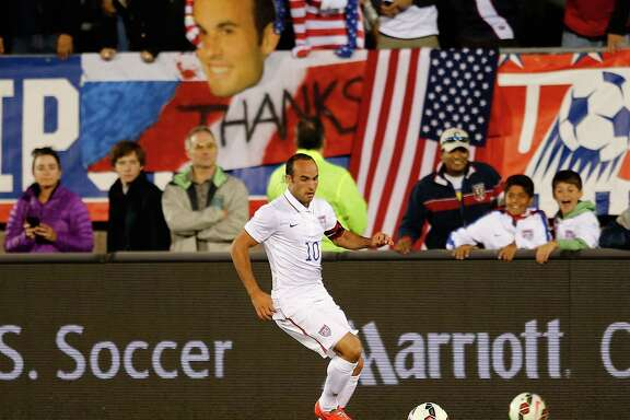 Forward Landon Donovan left the U.S. national team after a friendly against Ecuador on Friday, a 1-1 tie, as the leading scorer with 57 goals.