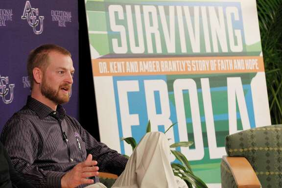 Dr. Kent Brantly, who survived Ebola with the help of an experimental medication, speaks at Abilene Christian University in Abilene, Texas on Friday, Oct. 10, 2014. Brantly, the first American flown back to the U.S. for treatment of Ebola, is urging calm for the people of Dallas and elsewhere who are worried about contracting the deadly disease. (AP Photo/The Dallas Morning News, Michael Ainsworth)