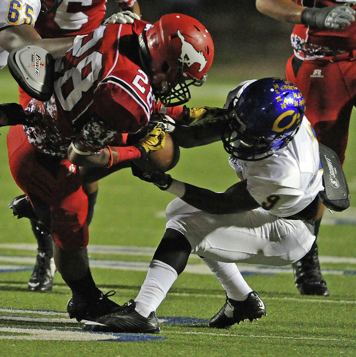 Channelview hopes for a repeat of last year's result against North Shore, when a Hail Mary on the game's final play capped the Falcons' 49-48 win. It was North Shore's only district loss, but the victory was not enough for Channelview to make the playoffs. The Falcons have more on the line this week because once again they are behind in the race for the playoffs after losing last week to West Brook, which lost to North Shore. Kickoff is 7 p.m. Friday at Channelview's Maddry Stadium.