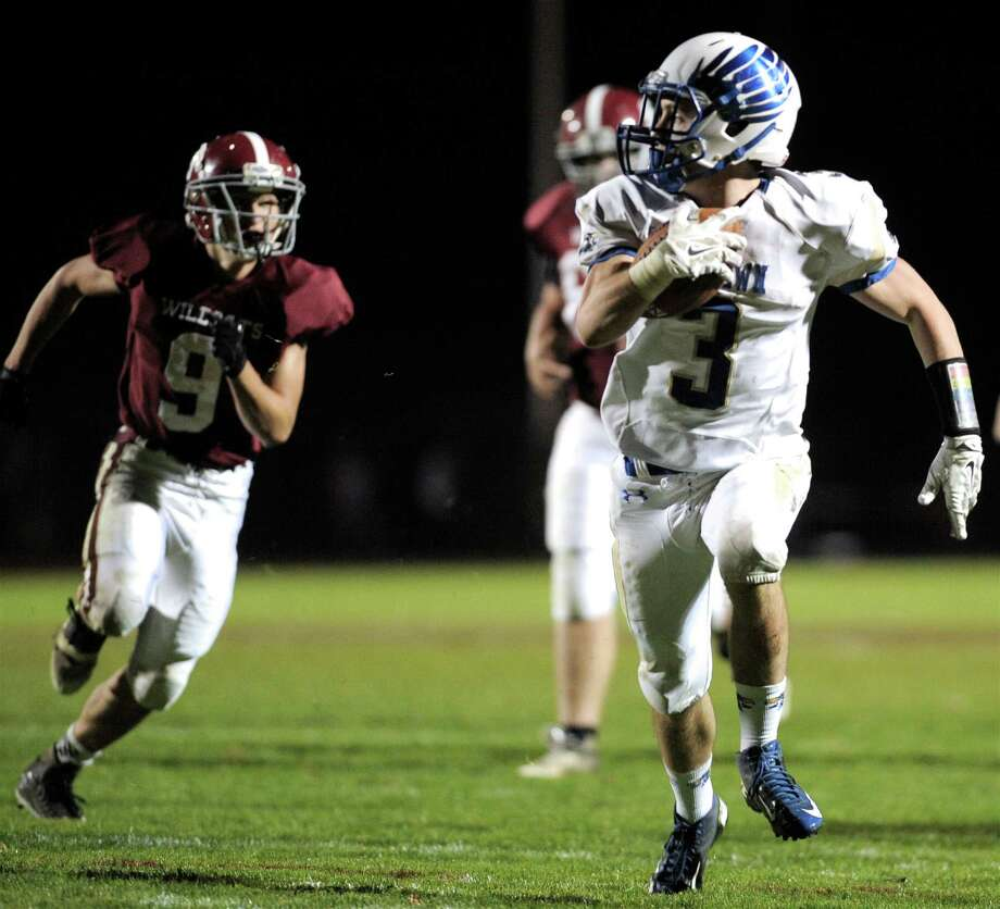 Photographs of Friday nights high school football game between Newtown and Bethel High School,  October 10, 2014, in Bethel, Conn. Photo: H John Voorhees III / The News-Times Staff Photographer