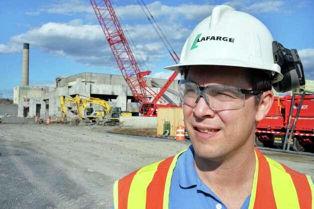 Lafarge Cement plant manager Mike Kralik at tthe Lafarge modernization project construction site Friday Oct. 10, 2014, in Ravena, N.Y.  (John Carl D'Annibale / Times Union) Photo: John Carl D'Annibale / 10028994A