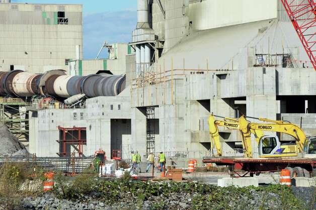 Lafarge Cement plant's modernization project construction site Friday, Oct. 10, 2014, in Ravena, N.Y.  (John Carl D'Annibale / Times Union) Photo: John Carl D'Annibale / 10028994A