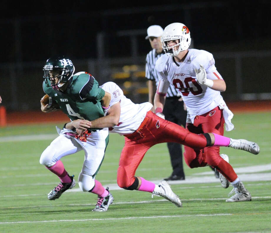 Scenes from the high school football game between Norwalk High School and Greenwich High School at Norwalk, Friday night, Oct. 10, 2014. Greenwich defeated Norwalk, 14-7. Photo: Bob Luckey / Greenwich Time