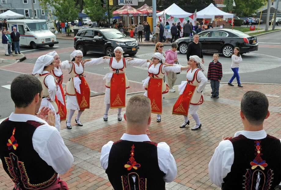 The Fotia dance group from St. George Greek Orthodox Church perform during the Upper Union Street 2014 Harvest Fest & Art Show on Saturday Oct. 11, 2014 in Schenectady, N.Y.  (Michael P. Farrell/Times Union) Photo: Michael P. Farrell / 10028935A
