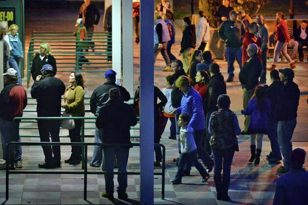 Hockey fans queue up for tickets at the the Glens Falls Civic Center as the Adirondack Flames play their franchise opener against the Albany Devil's Saturday Oct. 11, 2014, in Glens Falls, NY.  .(John Carl D'Annibale / Times Union) Photo: John Carl D'Annibale / 10028978A