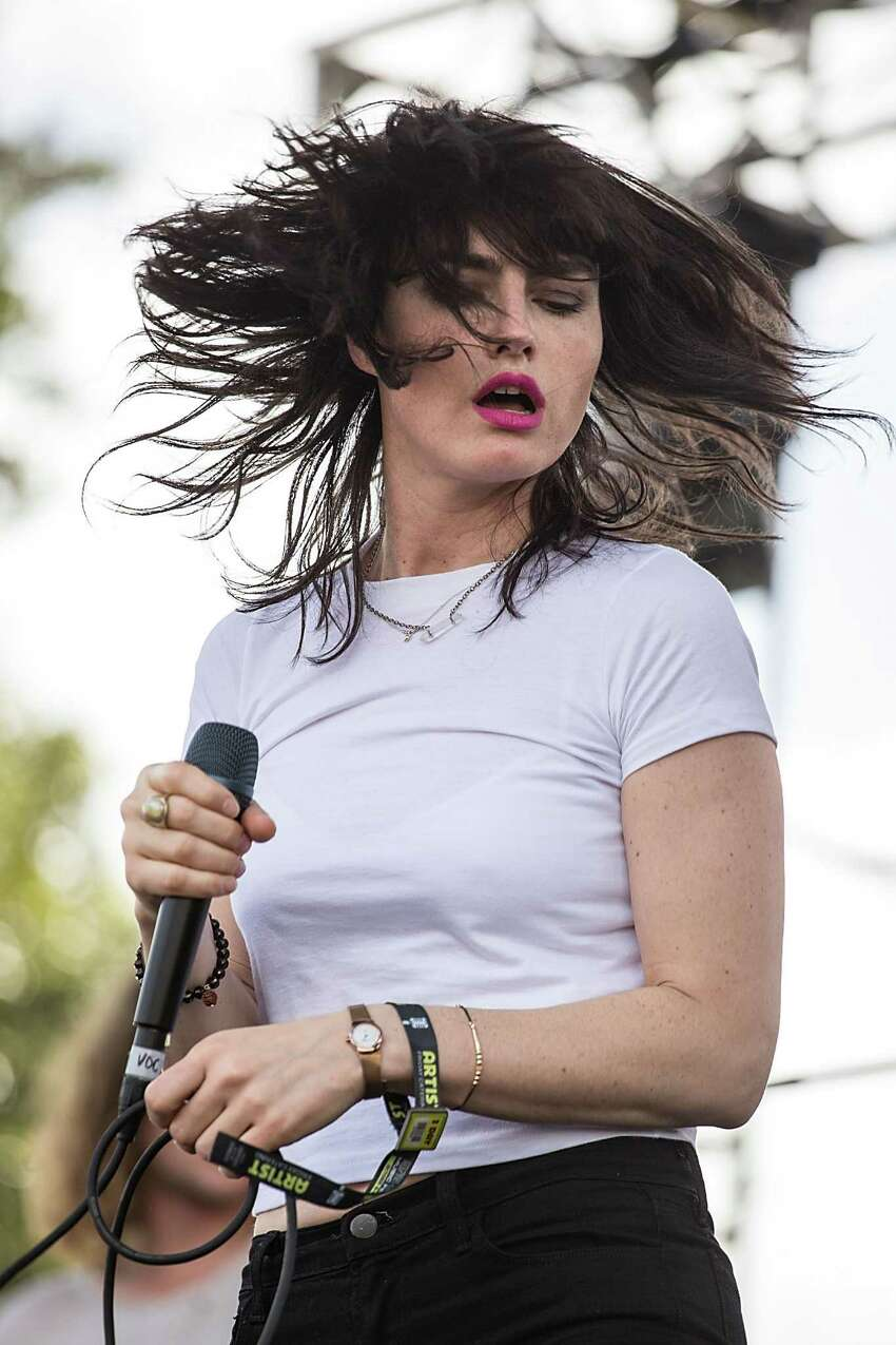 AUSTIN, TX - OCTOBER 10: Musician/vocalist Isabella Manfredi of The Preatures performs on stage during weekend two, day one of Austin City Limits Music Festival at Zilker Park on October 10, 2014 in Austin, Texas. (Photo by Rick Kern/WireImage)