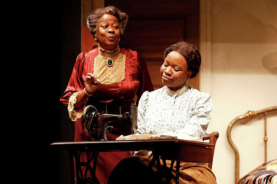 """Nikki E. Walker, right, and Aleta Mitchell in a scene from """"Intimate Apparel"""" at the Westport Country Playhouse through Nov. 1. Photo: Contributed Photo / Westport News"""