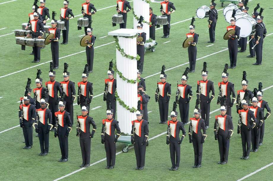The Seven Lakes High School marching band competes in the Katy ISD 29th annual Invitational Marching Festival at Rhodes Stadium in Katy, Texas Saturday October 11, 2014. Photo: Copyright Tony Bullard 2014, Freelance Photographer / Copyright 2014 Tony Bullard & the Houston Chronicle