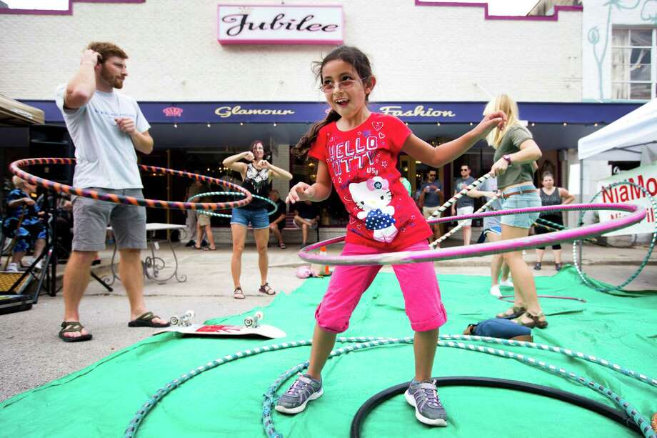 There was plenty of family fun this weekend at a street fair in the Heights. Check out the photos.  Photo: Brett Coomer, Houston Chronicle / © 2014 Houston Chronicle