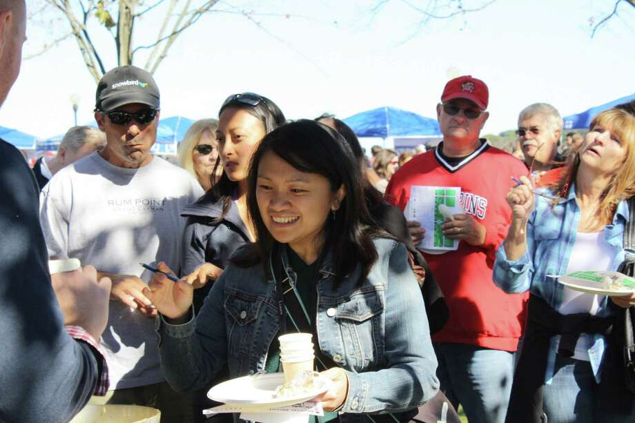Chowdafest was held at Calf Pasture Beach in Norwalk on October 12, 2014. Attendees sampled 36 soups and chowders and voted for the best in the area. Were you SEEN? Photo: Amanda Vontobel