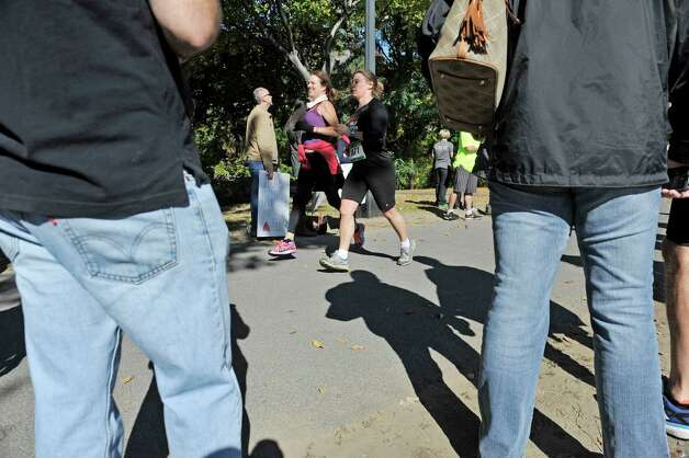Runners make their way along the bike path as they take part in the Mohawk Hudson Marathon on Sunday, Oct. 12, 2014, in Albany, N.Y.   (Paul Buckowski / Times Union) Photo: Paul Buckowski / 10028957A