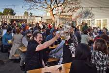 Biergarten (424 Octavia St, San Francisco): It will be crowded during nice weather, but Proxy's most popular area is a very good development for Hayes Valley.