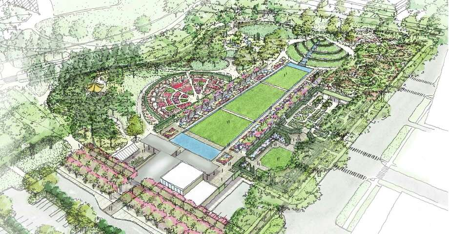 Shown is a rendering of the Hermann Park Centennial Gardens, set to open Saturday, Oct. 18.