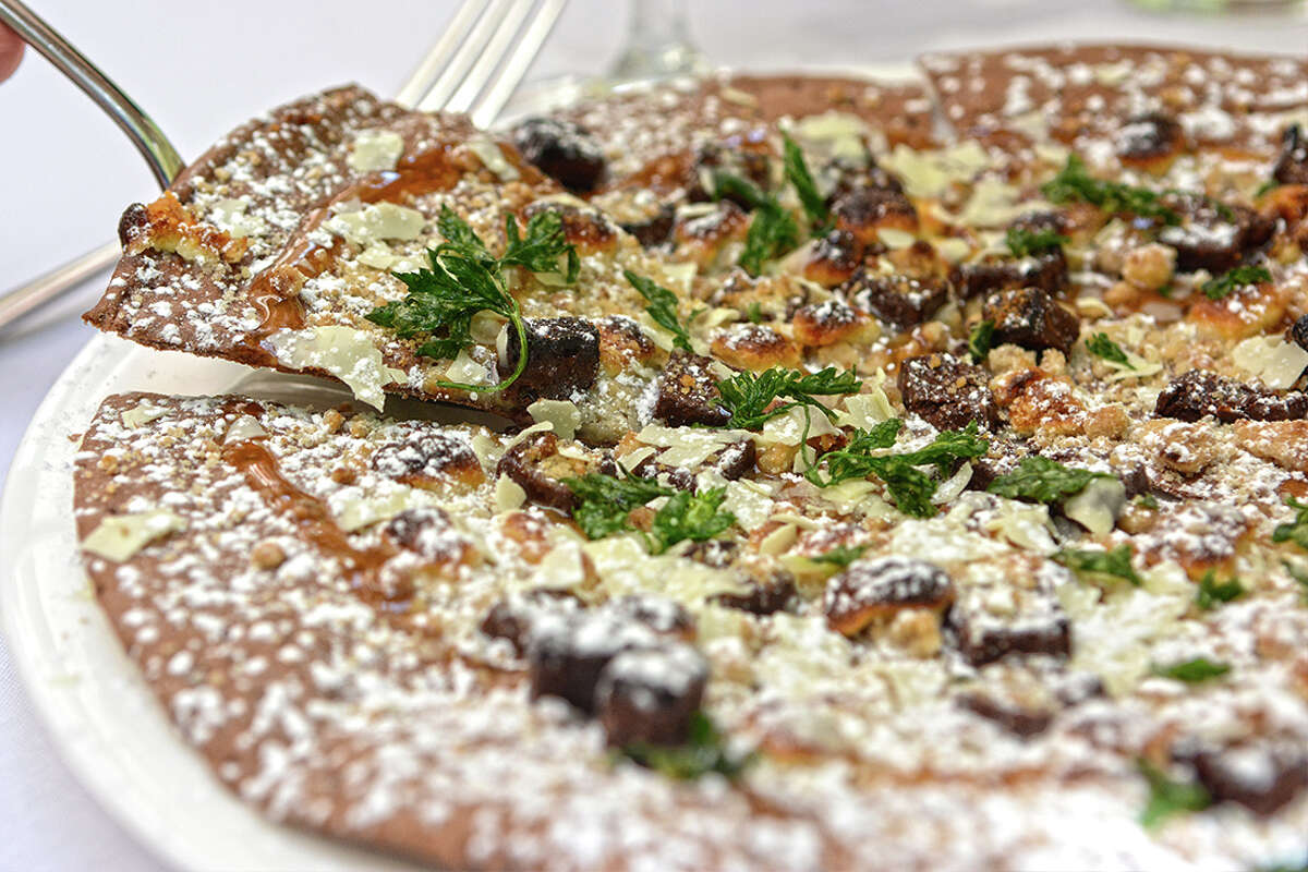 Chocolate Pizza at Zocca on the River Walk, located at 420 W. Market St.