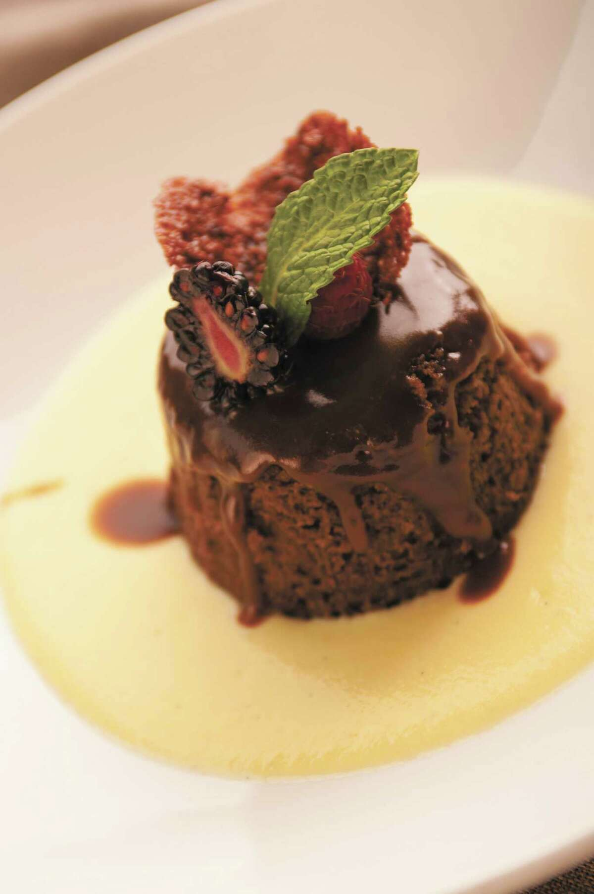 Biga on the Banks Sticky Toffee Pudding with Custard Sauce from
