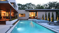 """""""The pool is fairly close to house so you can see it from inside,"""" said architect Stephen Andrews. """"We're always thinking about what are you looking at from inside the house."""""""