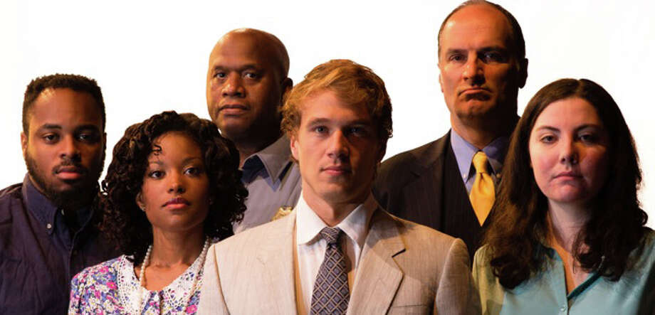 "From left, the cast of the upcoming play ""A Time to Kill,"" by the Town Players of New Canaan: Tenisi Davis, Maiysha Jones, Paul Brown, Chris Kozlowski, Eric Dino and Alexandra Burke.The playís first Connecticut production will be staged at the Powerhouse Theatre at Waveny Park, New Canaan, Conn., starting Friday, Oct. 24, 2014. Photo: Contributed Photo, Contributed / New Canaan News Contributed"