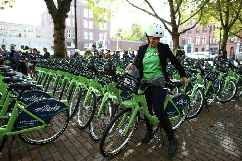Launched in October of 2014, the Pronto! bike sharing program was weeks from insolvency due to lack of ridership and revenue.  The Seattle City Council stepped in Monday, voting 7-2 to spend $1.4 million taxpayer dollars to buy bike stations and other assets.  The city will now take money from a $5 million transportation fund to possibly triple the number of stations and possibly expand into electric bicycles.  Photo: JOSHUA TRUJILLO, SEATTLEPI.COM / SEATTLEPI.COM