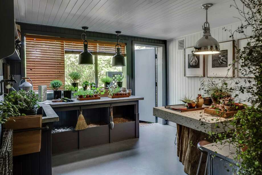 Randy McDannell transformed the basement of a Pacific Heights mansion into the ultimate potting shed for the S.F. Decorator Showcase. Photo: Christopher Stark / ONLINE_YES
