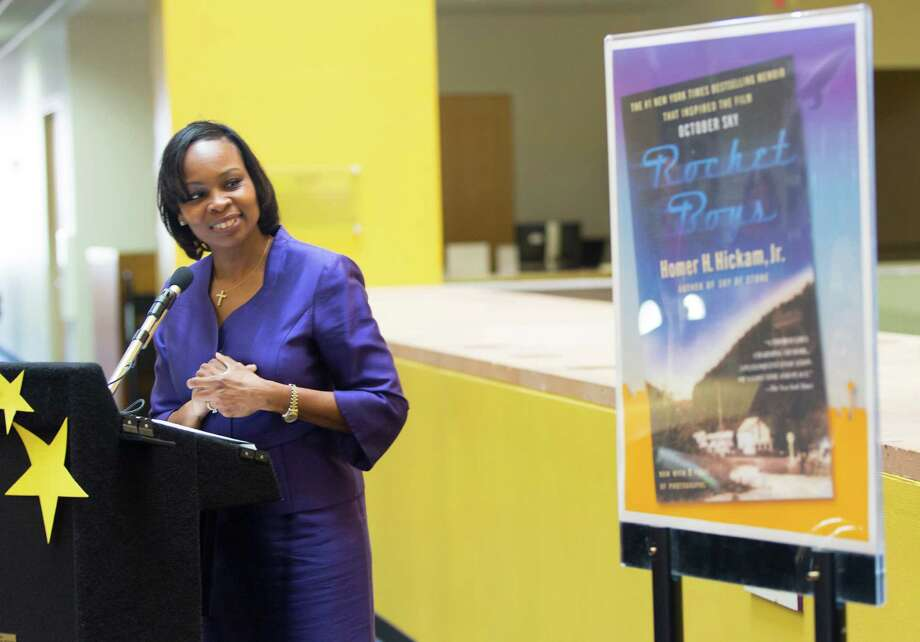 "In October, San Antonio Mayor Ivy Taylor announced ""Rocket Boys,"" by former aerospace engineer Homer H. Hickam. as the first book in her Mayor's Book Club reading campaign. Photo: William Luther /San Antonio Express-News / © 2014 San Antonio Express-News"