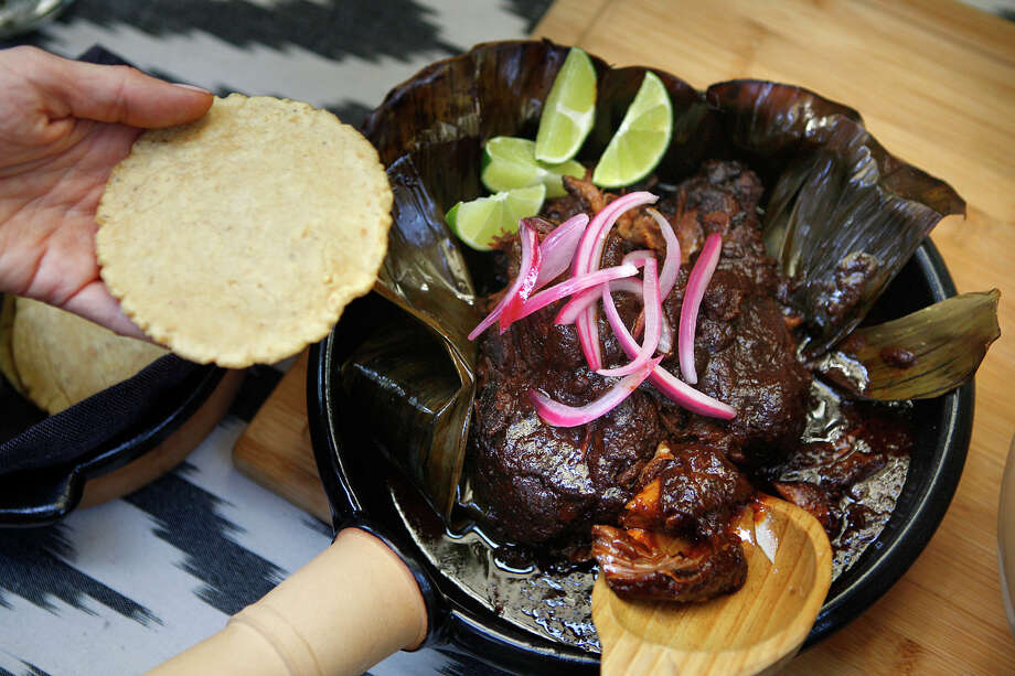 Dominica Rice-Cisneros of Cosecha adapts her lamb birria using earthenware to replicate pit cooking. Photo: Liz Hafalia / The Chronicle / ONLINE_YES