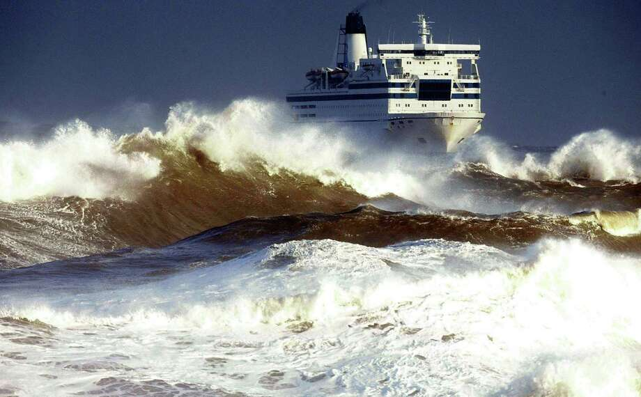 Houston's Endeavour International has filed for bankruptcy as it struggles with production slowdowns in the stormy North Sea off England, shown here rocking a  ferry as it heads for port  (AP Photo/Owen Humphreys/PA) ** UNITED KINGDOM OUT: MAGAZINES OUT: NO SALES:  ** Photo: OWEN HUMPHREYS, SUB / PA