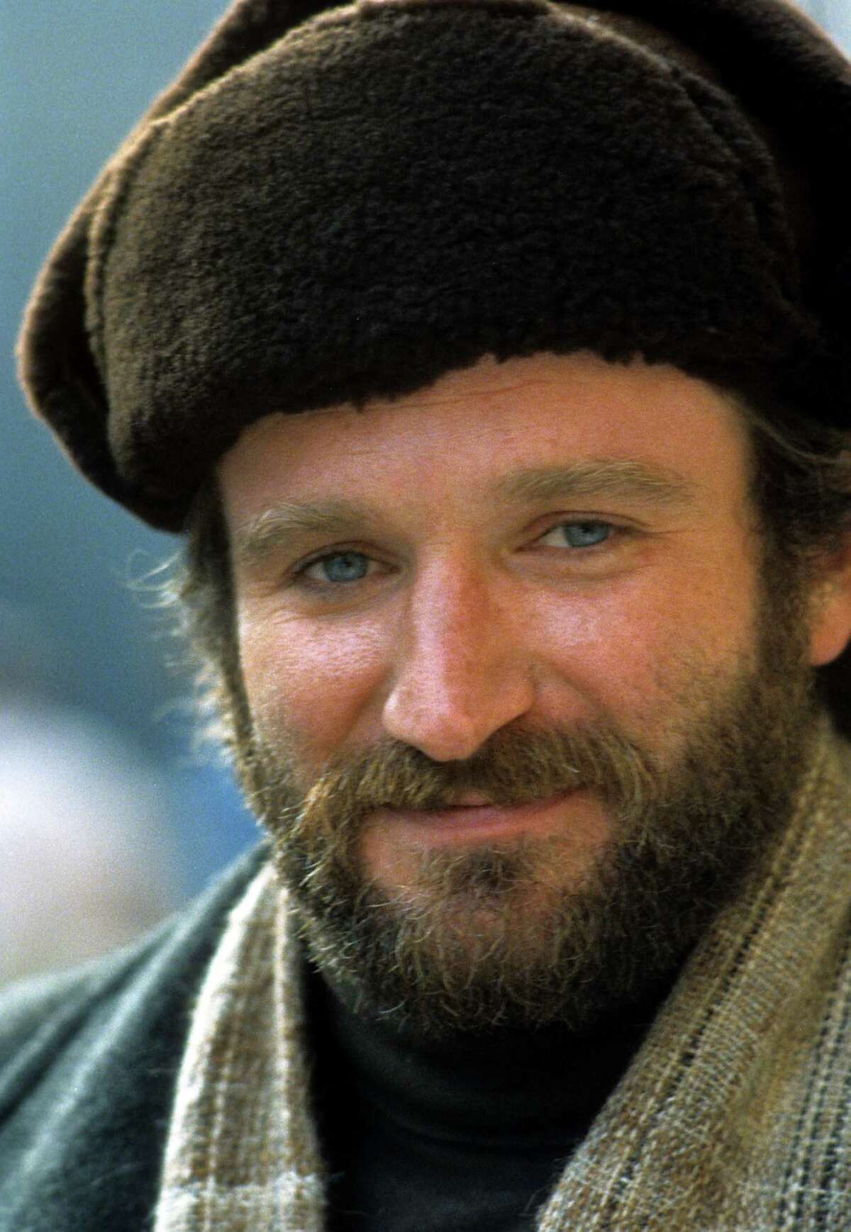 Robin Williams in a scene from the film 'Moscow On The Hudson', 1984.