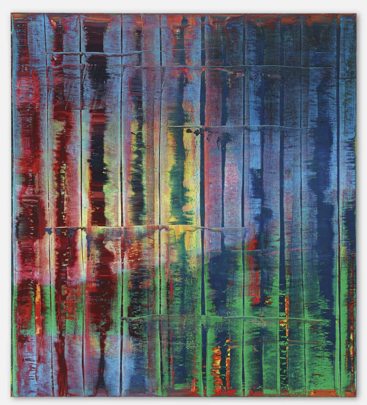 """Gerhard Richter's """"Abstrak- tes Bild (774-4),"""" valued between $14 million and $18 million, is likely to garner bids from collectors around the world."""
