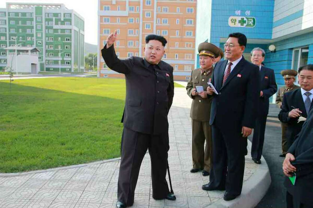 MISS ME? After a 40-day unexplained absence, North Korean leader Kim Jong Un resurfaces with an inspection of a new housing complex in Pyongyang. Kim used a cane to help him get around during the tour.