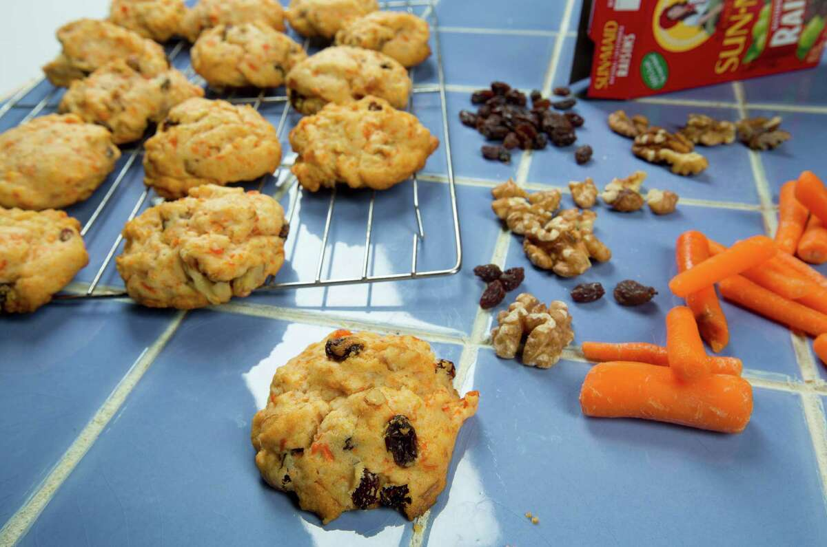 Carrot Cookies are a bit crisp on the bottom but are light inside.