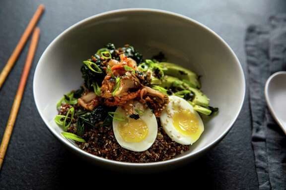 A Mixed-Grain Bowl With Kale, Kimchee and Egg reflects how the dishes have become mainstream.