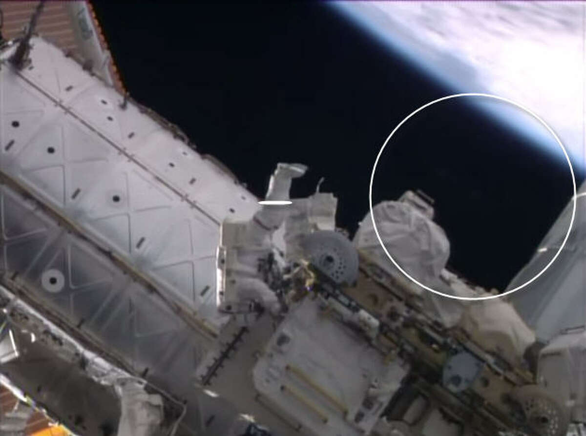 Was a UFO watching NASA astronauts? Watch this space. A video published on the NASA YouTube channel of a spacewalk outside the International Space Station appears to show a blurry object appear behind an astronaut where nothing before was present.Nothing appears there now ....