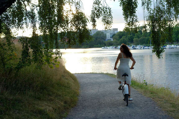 A bike ride through the island of Djurgarden is a peaceful way to see a different side of Stockholm.