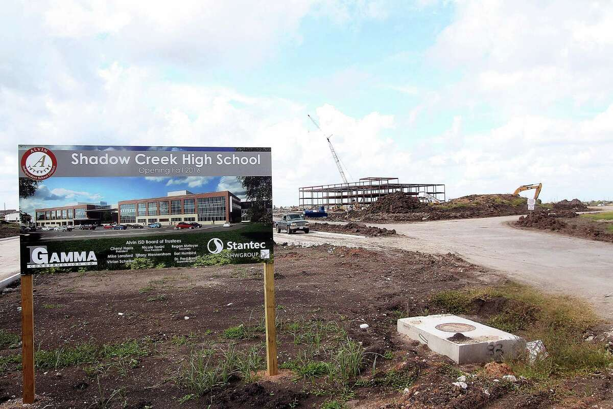 As the framework rises for Shadow Creek High School in Pearland, the Alvin school district is considering details about what grade levels will be initially introduced at the school. The district also will study how to redraw attendance zones to accommodate the new campus.