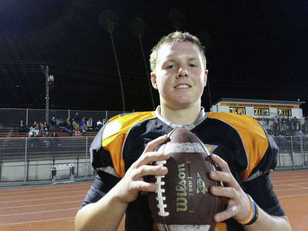 Kevin Davidson moved from Danville to Oakland, where he is a quarterback at McClymonds High School.
