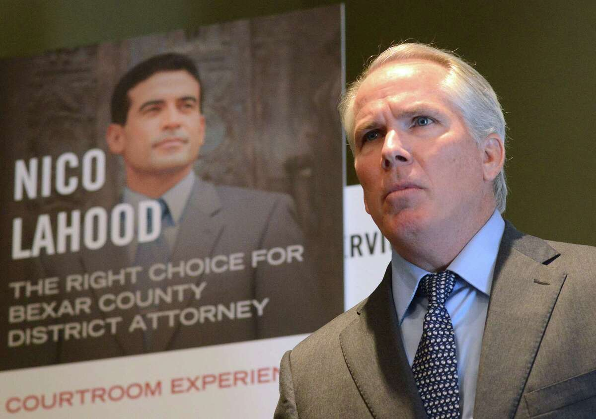 Corpus Christi attorney Thomas J. Henry speaks about his donation of $694,000 to the Nicholas LaHood campaign for Bexar County district attorney during a press conference on Tuesday, Oct. 14, 2014.