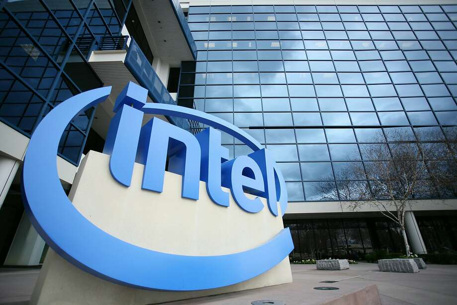 "Intel's campus is seen in Santa Clara on February 24, 2011 in California.  Apple unveiled an updated line of MacBook Pro laptop computers on February 24, 2011 featuring new Intel ""Thunderbolt"" technology for moving digital films and other data ""blazinglyfast."" Photo: Kimihiro Hoshino, AFP/Getty Images"