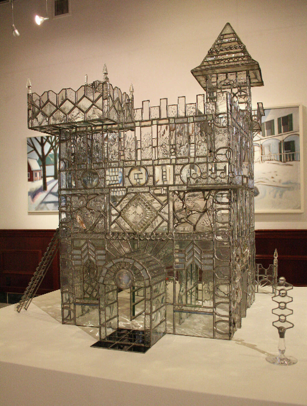"""""""The Castle,"""" glass, by Ed Cowley, on exhibit at the Albany Center Gallery, Aug. 3-31, 2012. (Courtesy Albany Center Gallery)"""