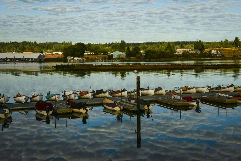 Rowboats line the Tyee Club's dock. Photo: Jill K. Robinson, Special To The Chronicle