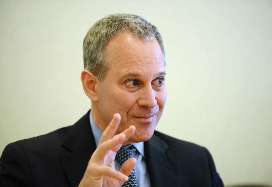 State Attorney General Eric Schneiderman speaks to the Times Union editorial board Tuesday, Oct. 14, 2014, in Colonie, N.Y. (Will Waldron/Times Union) Photo: WW