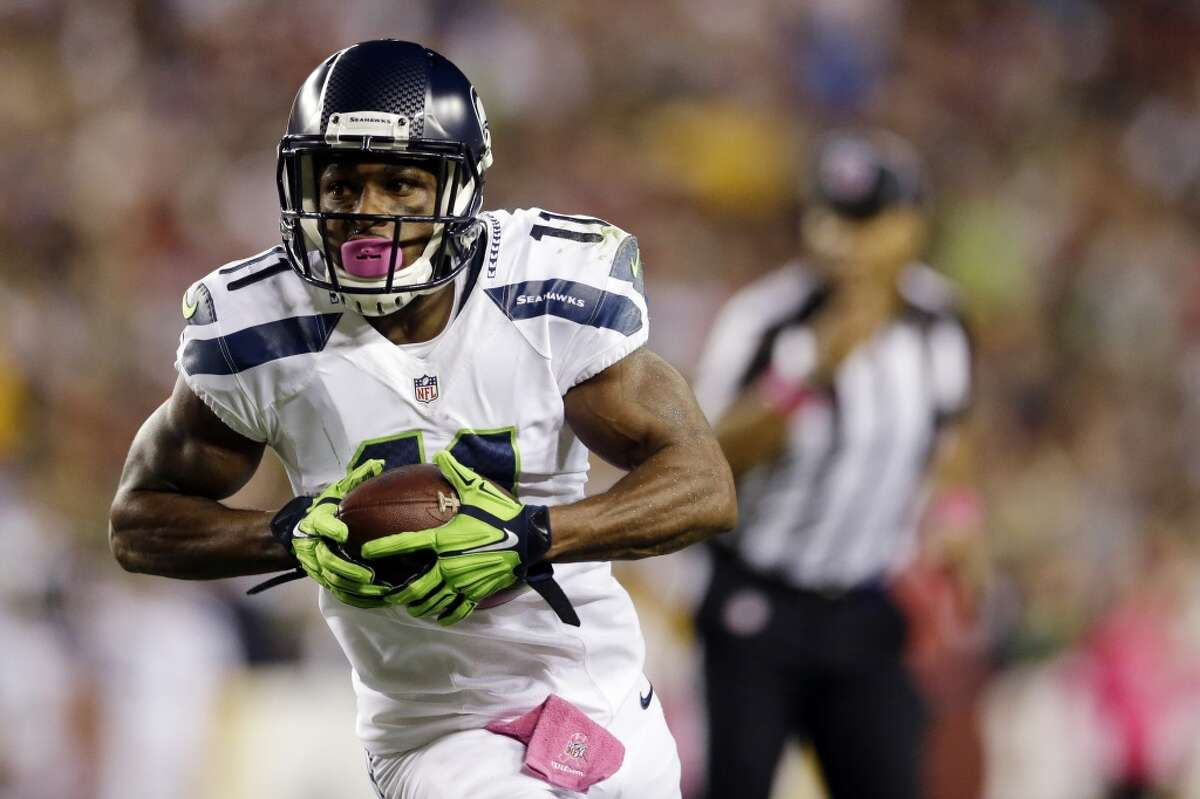9. 'Lord have mercy, it's Percy' Thanks to offseason hip surgery, Percy Harvin didn't make his Seahawks debut until Week 11 of the 2013 season. Banged up again versus his old team, the Minnesota Vikings, he didn't return until the divisional playoff against New Orleans -- and didn't play again, thanks to a concussion, until the Super Bowl. At this point of the season last year, Harvin was not yet a factor for the Seahawks. Seattle's No. 1 receiver was still Golden Tate. Tate is now gone and is having a big year, so far, in Detroit. But the Seahawks finally have Harvin as a dangerous and dynamic offensive weapon. Fans can debate whether Pete Carroll and Darrell Bevell have used Harvin to his full potential, but there's no arguing that Wilson has a more diverse toolbox this season than last. Pair that with a somewhat improved O-line, and you have a better offense -- on paper, at least -- to complement what is still one of the best defenses in the NFL.