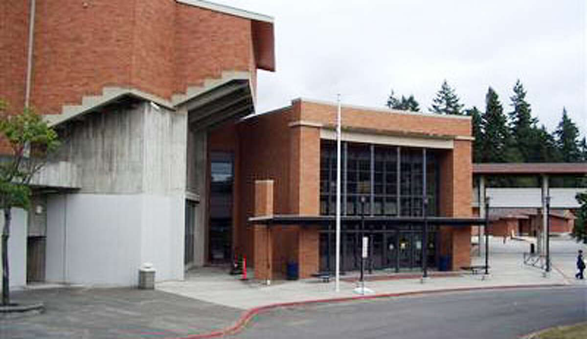 Renton's Lindbergh High School, pictured in a King County Assessor's Office photo. A Lindbergh student has sued the school district in an effort to reverse a failing grade she received after she was accused of cheating on a chemistry final. She denied cheating on the exam.