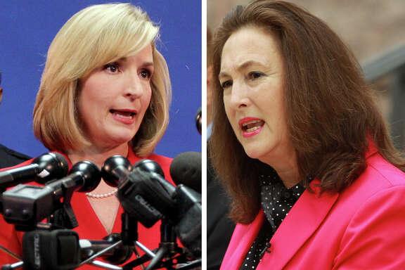 DA candidates Devon Anderson and Kim Ogg.