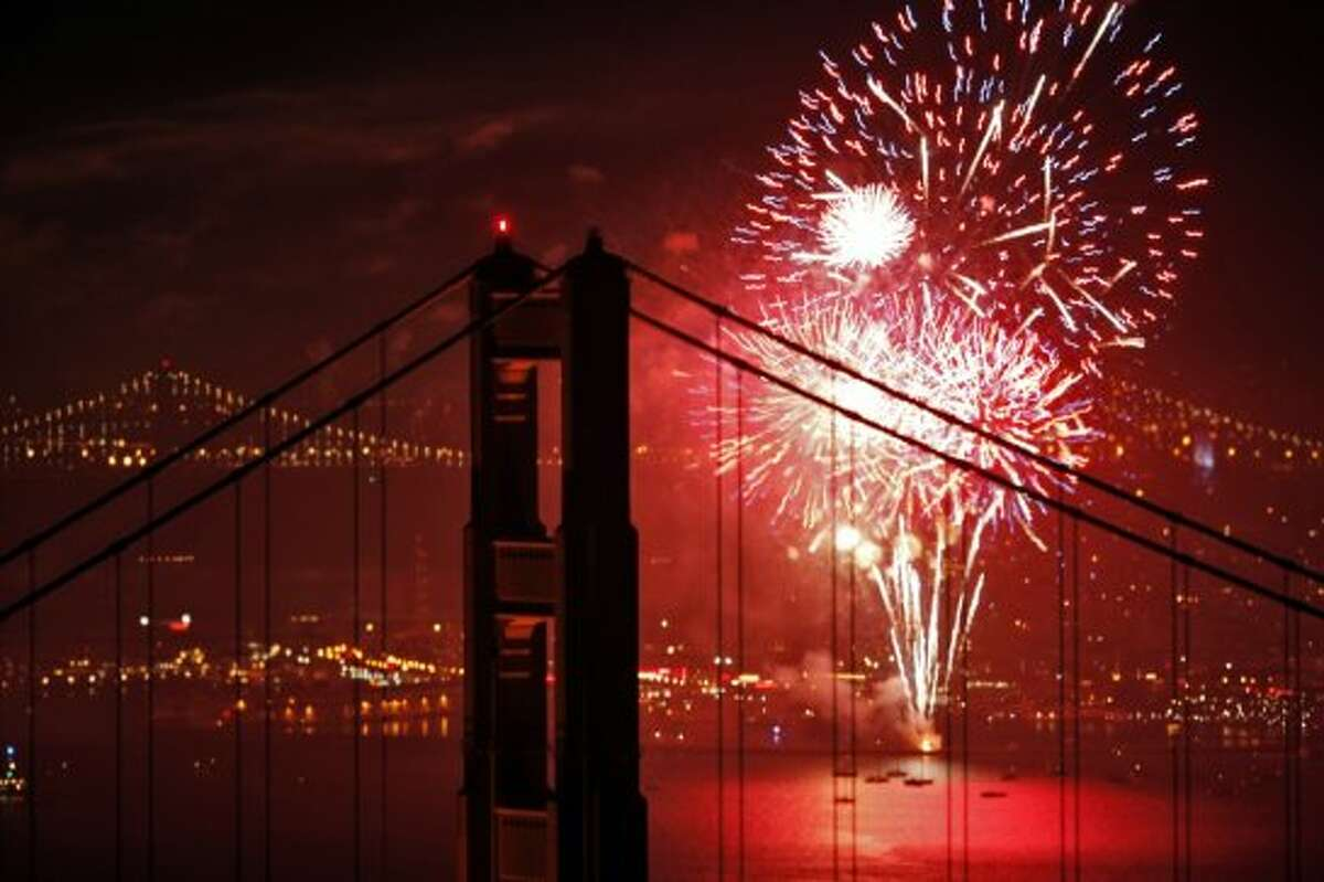 Pier 39 in San Francisco: : One of the best places to catch fireworks in SF is at Pier 39. There will be live music beginning at 3p.m. and a fireworks show at 9:30 p.m.