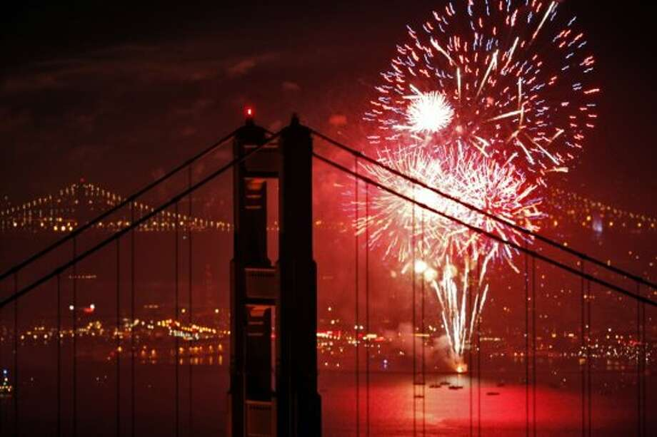 Pier 39 in San Francisco: One of the best places to catch fireworks in SF is at Pier 39. There will be special exhibits from 11 a.m. to 5 p.m., a live band from 5 p.m. to 8 p.m. and finally the firework show at 9:30 p.m. Photo: Carlos Avila Gonzalez, The Chronicle