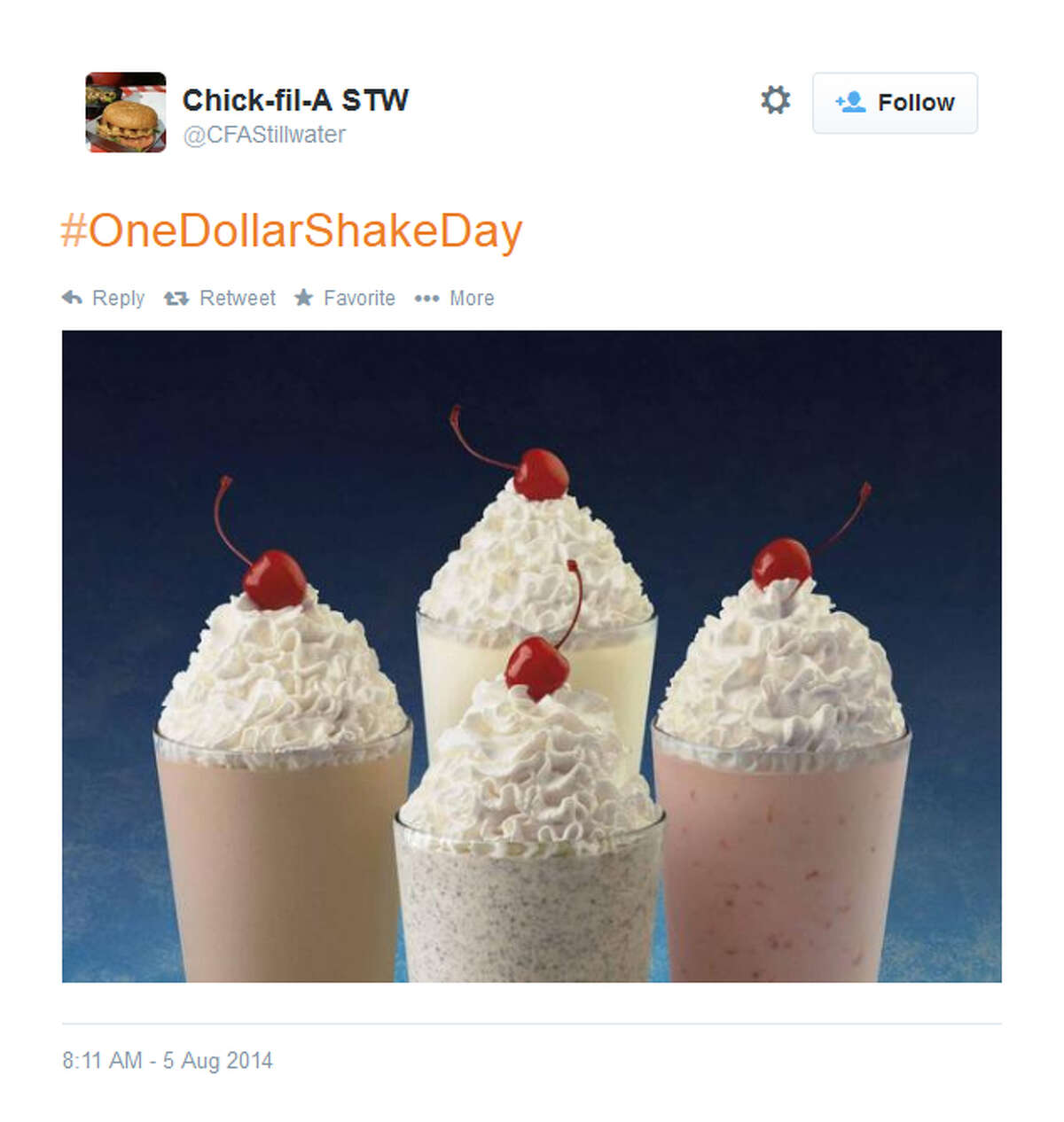 A former Texas resident claims in court that a cherry atop a Chick Fil-A milkshake like one of these caused her tooth and gum damage, ultimately leading to a heart attack. (File art)