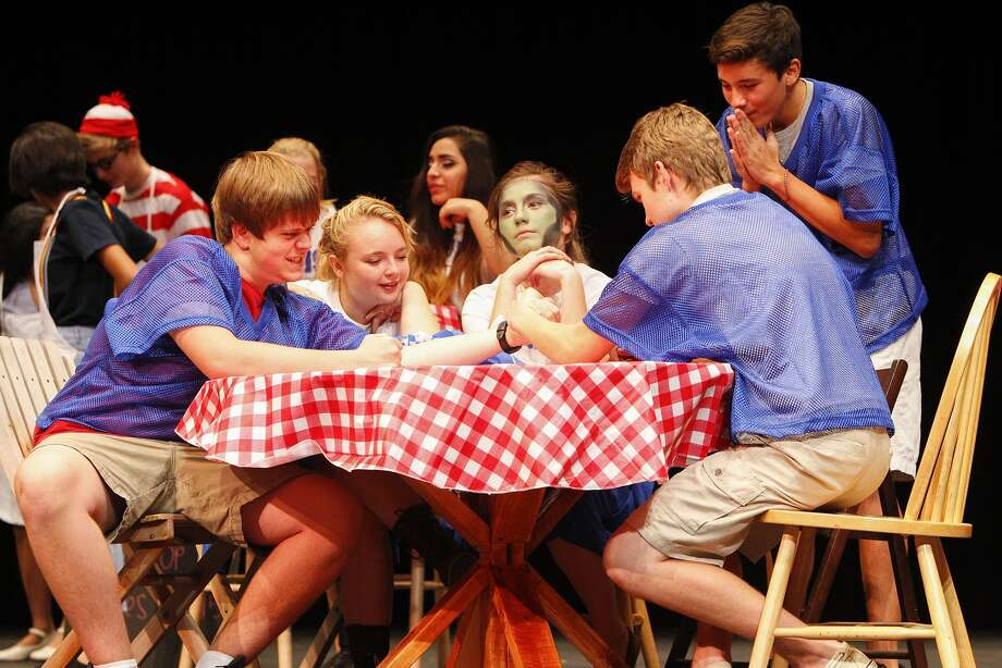 "The Tompkins High School Drama Department rehearses for its production of ""Attack of the Pom Pom Zombies,"" which premieres on Thursday, Oct. 23, in the Tompkins Performing Arts Center. Photo: Diana L. Porter, For The Chronicle / © Diana L. Porter"