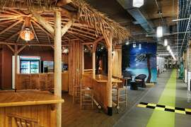 Groupon uses themed spaces, such as a Tiki room, to spark creativity.